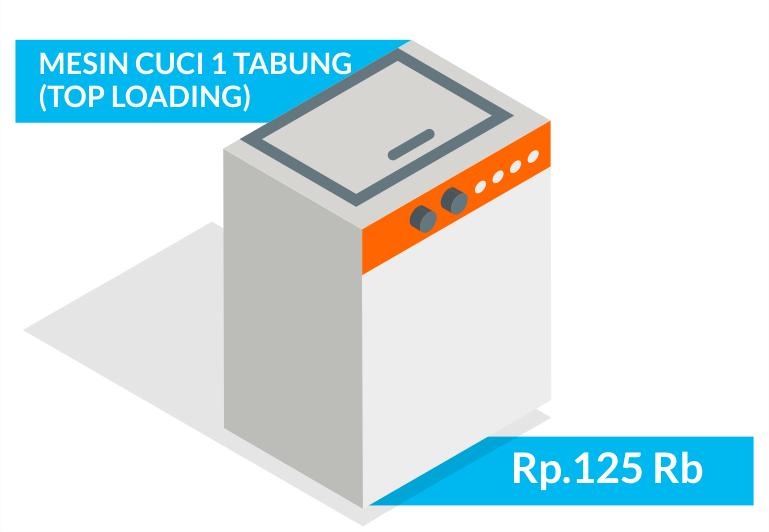 Jasa service elektronik mesin cuci 1 tabung bergaransi bandung sapubersih