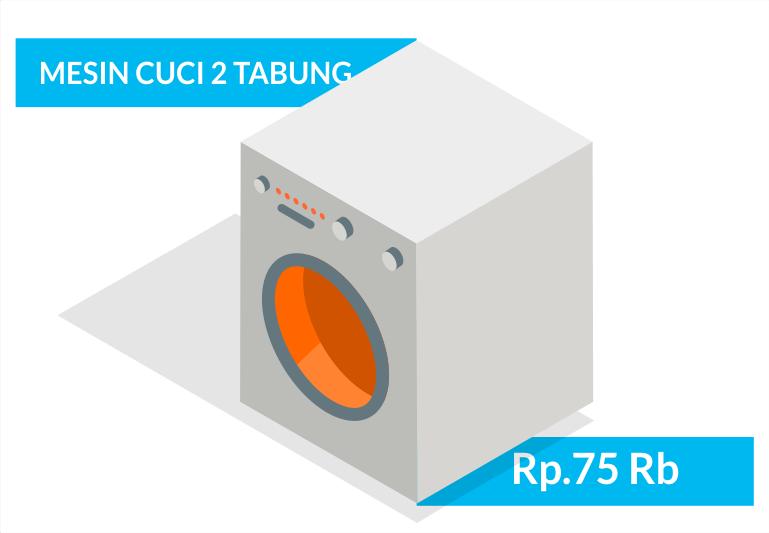 service elektronik mesin cuci 2 tabung bergaransi bandung