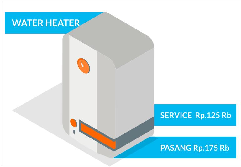 Jasa service elektronik WATER HEATER terbaik bandung sapubersih